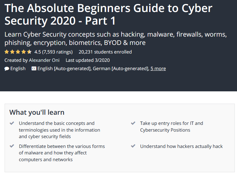 Beginner's Guide to Cyber Security