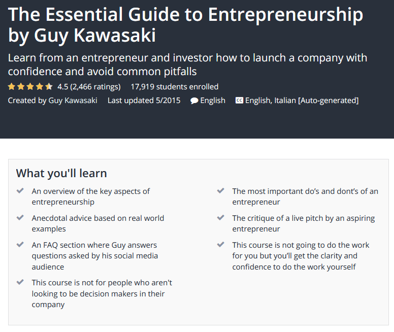 Essential Guide to Entrepreneurship