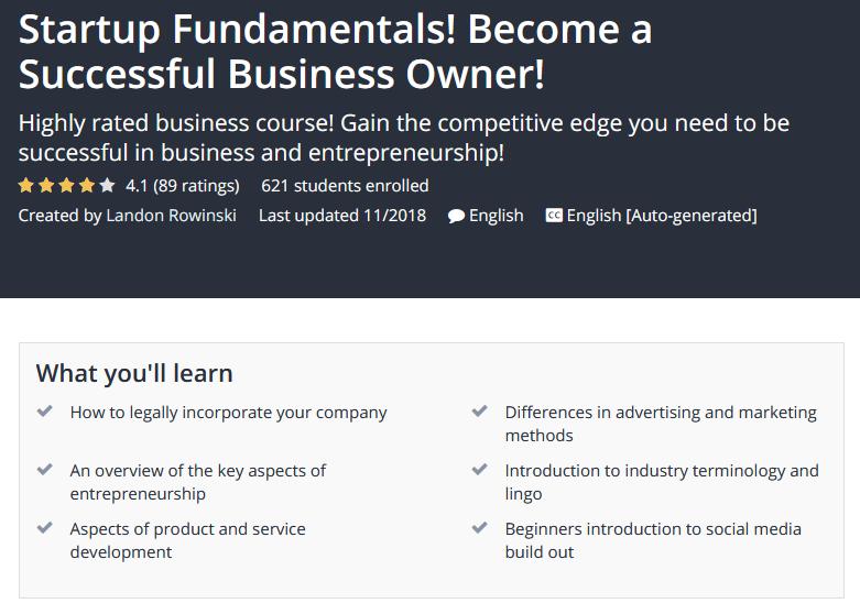 startup fundamentals