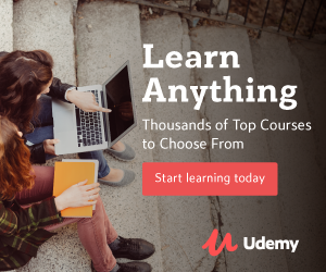 Learn anything at Udemy
